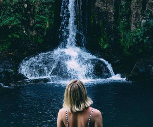 Hot, waterfall, and rainforest image