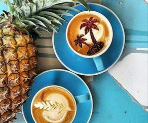coffee, pineapple, and summer image