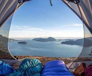 travel, adventure, and camping image