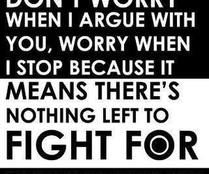 quote, fight, and argue image
