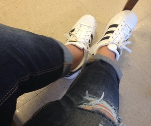 adidas, ankle, and jeans image
