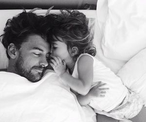dad, daughter, and sleep image