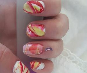 nail art and watermarble image