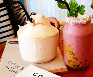 drink, healthy, and coconut image
