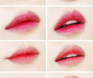 lips, pink, and asian image