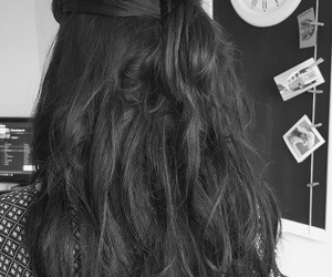 black, extensions, and hair image