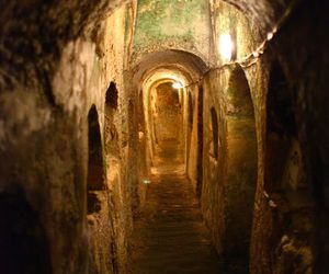 catacombs, tunnel, and underground image