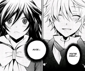 pandora hearts, alice, and Oz image