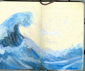 notebook and ocean image