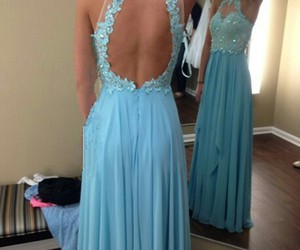 prom dress and lace prom dress image