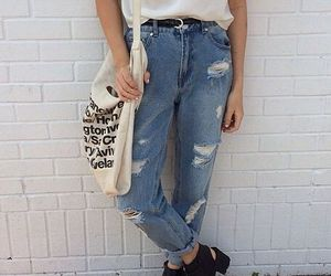 outfit, jeans, and style image