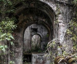 abandoned, arches, and stone image
