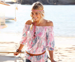 boho, off shoulder, and fashion image