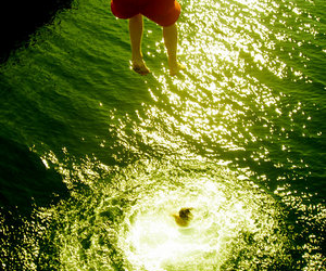 jump, light, and summer image