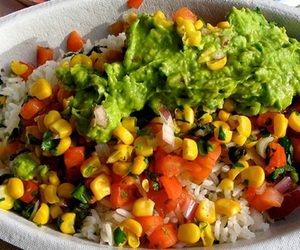 chipotle, corn, and food image