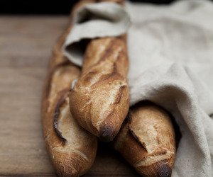 food, baguette, and bread image