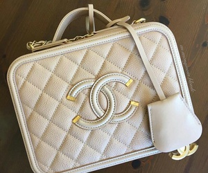 bag, withe, and chanel image
