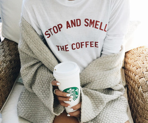 starbucks, coffee, and white image