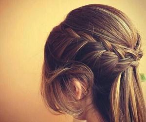 braid, braided, and hair image