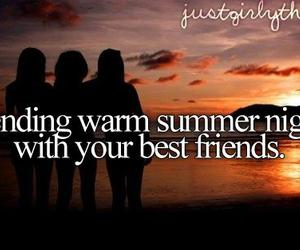 summer, friends, and night image