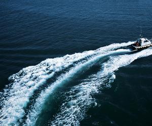 boat, grain, and ocean image
