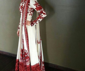 dress, embellished, and embroidery image