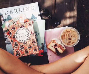 food, book, and beautiful image