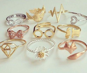 gold, ring, and rings image