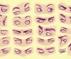 sketch, drawing, and eyes image