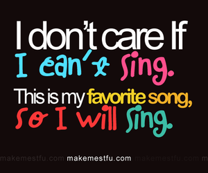 sing, text, and song image