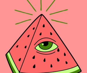 watermelon, food, and cute image