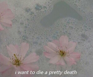 flowers, grunge, and death image