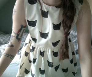 cat, dress, and tattoo image