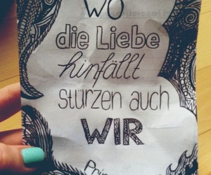 liebe, words, and saying image