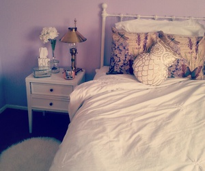 bedroom, gold, and lavender image