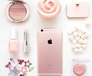 apple, cupcake, and pink image