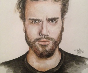 art, beard, and drawing image