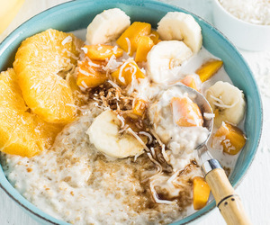 coconut, oatmeal, and summer image