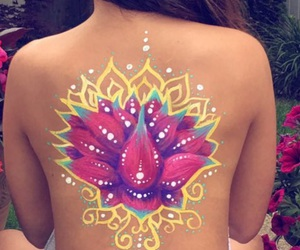 body art, painting, and pretty image
