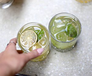 lime, drink, and fruit image