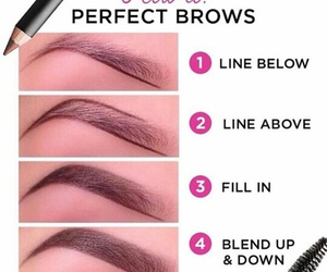 diy, eyebrows, and brows image