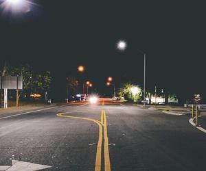 night, street, and dark image