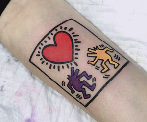 art, keith haring, and tattoo image