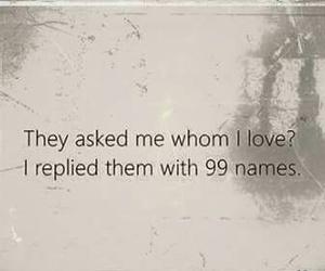 allah, muslims, and 99 names image