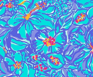 floral pattern, pattern, and lilly pulitzer image
