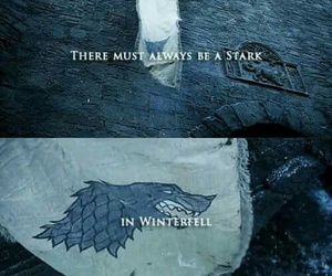 game of thrones, stark, and winterfell image