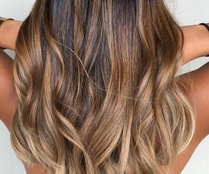 curls, highlights, and ombre hair image