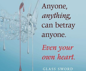 red queen, glass sword, and victoria aveyard image