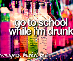 drunk and school image