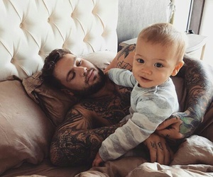 baby, daddy, and baby boy image